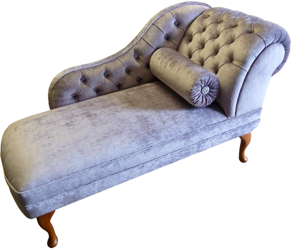 Bespoke Chaise Longue Laura Ashley Fabric and Swarovski crystal buttons