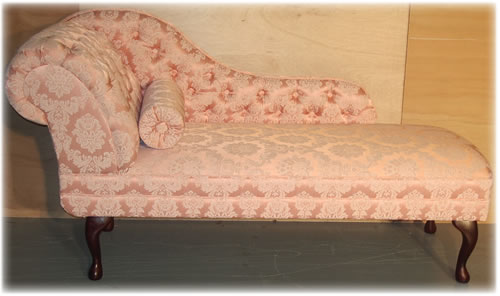Pink damask Chaise Longue