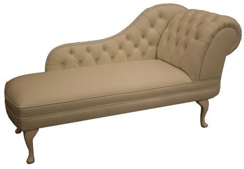 Chaise Longue in White Leather