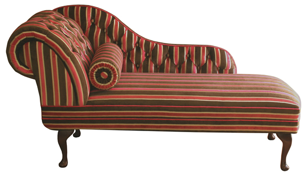 Striped Chaise Longue