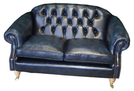Hertford Chesterfield Sofa in Antique Blue
