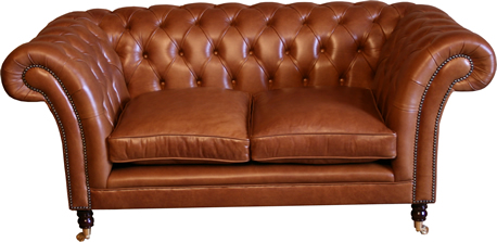 Kensington 2 Seat Leather Chesterfield Sofa