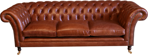 Kensington 3 Seater Leather Chesterfield Sofa
