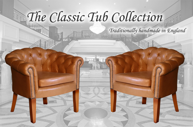 The Classic Tub Chesterfield Collection A Furniture Enfield - Tub chairs leather