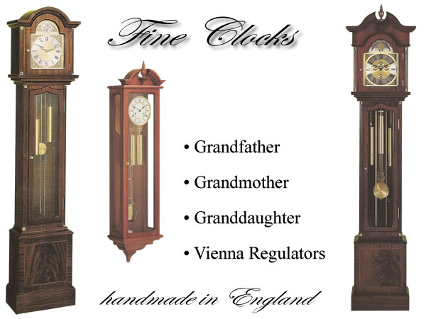 fine handmade clocks grandfather grandmother granddaughter
