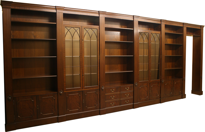Fine Quality Yew And Mahogany Reproduction Combination Units