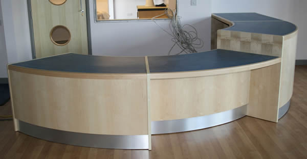 Shaped Reception Counter Desk