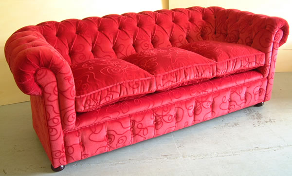 Sofa Ideas: Chesterfield Fabric Sofa