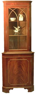 Mahogany Yew Corner Cabinet