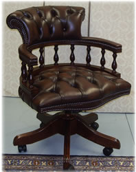 Chestnut mahogany captains chair