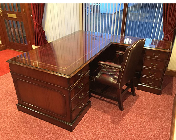 Yew and Mahogany Reproduction Bespoke Desks - A1 Furniture