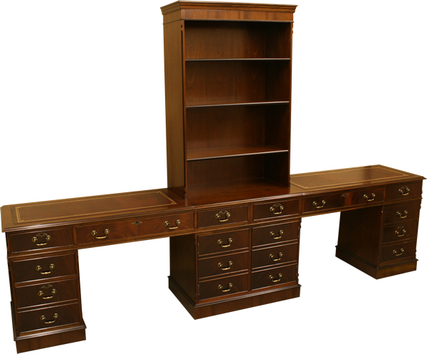 Contract Desk with Bookcase