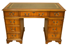 Reproduction Desks Yew and Mahogany