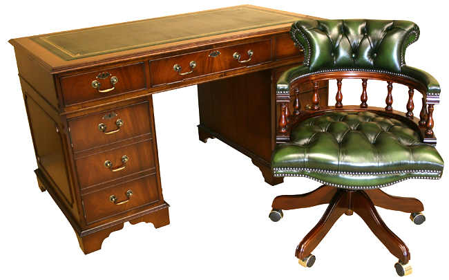Reproduction mahogany desk