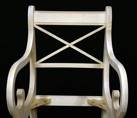 Cross Stick Dining Chair Back