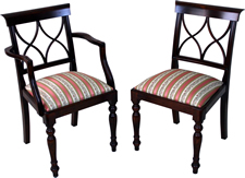 Hour Glass Back Dining Chairs