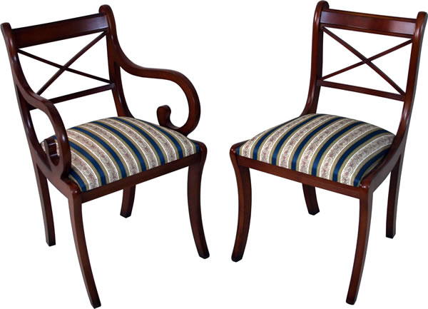 Delicieux Cross Stick Dining Chairs