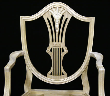 Shield Back Wheatear Dining Chair Back