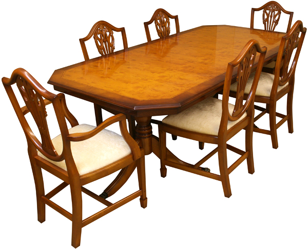 Yew Wood Dining Table And Chairs John Dick Yew Wood Drop Leaf Dining Table