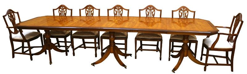 Reproduction Bow And D End Dining Tables Yew Mahogany