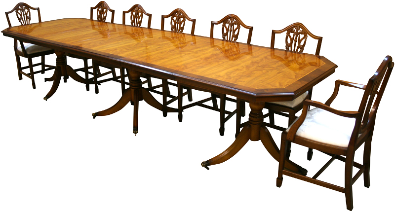 Yew And Mahogany Reproduction Inadam Dining Tables A1 Furniture