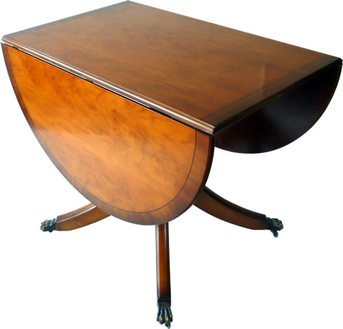 Pembroke reproduction dining table closed