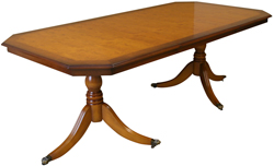 reproduction inadam dining tables mahogany yew