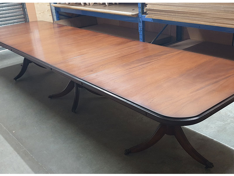 Reproduction Dining Table Yew Mahogany