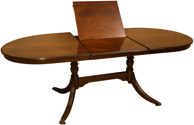 DT 22 7 39 Bow End Flip Top Dining Table In Mahogany Finish