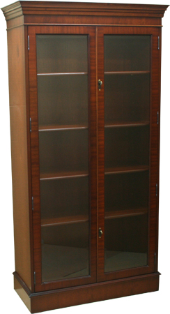 Tall reproduction display cabinet