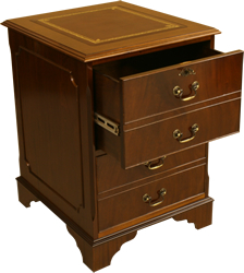 2 drawer reproduction filing cabinet mahogany