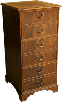 3 Drawer reproduction Filing Cabinet available in Yew and Mahogany