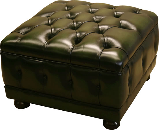 Chesterfield Leather Foot Stool
