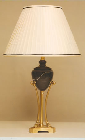 Antique Brass and Marble  Lamp