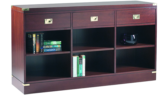3 Drawer Low Military Bookcase