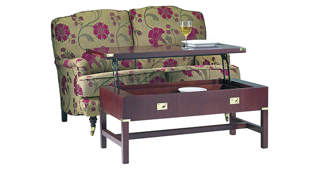 Military Supper Coffee Table Mahogany Cherry