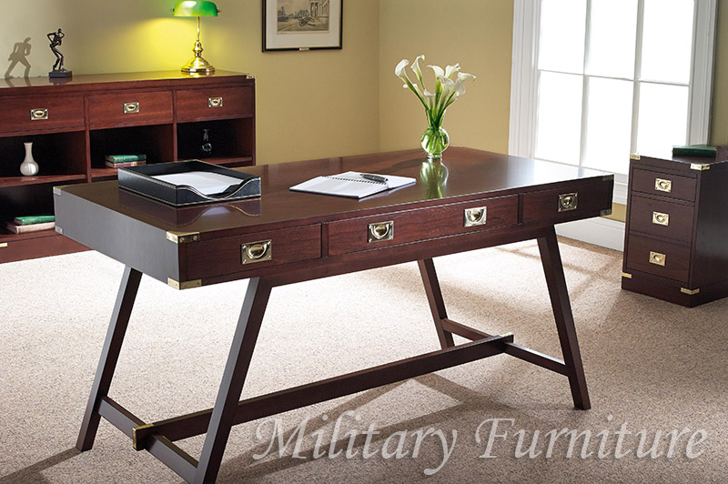 Reproduction Military Furniture in Mahogany & Cherry A1