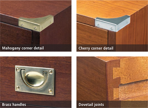 Military furniture finishes