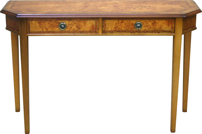 2 Drawer Inadam Tapered Leg Hall Table