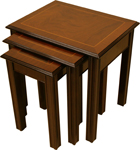 Chippendale nest of tables yew mahogany