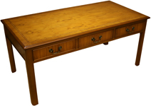 Chippendale coffee tables yew mahogany