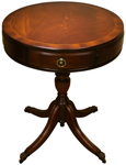 Circular reproduction drum tables mahogany yew