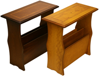 Magazine Tables Yew Mahogany