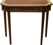 Tapered leg hall tables