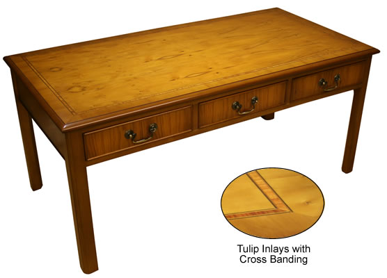 6 Drawer reproduction chippendale coffee table