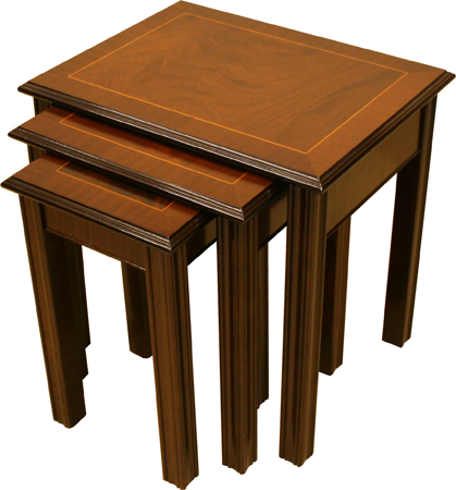 Chippendale Nest of Tables Mahogany