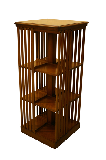 Large 3 Tier Revolving Bookcase