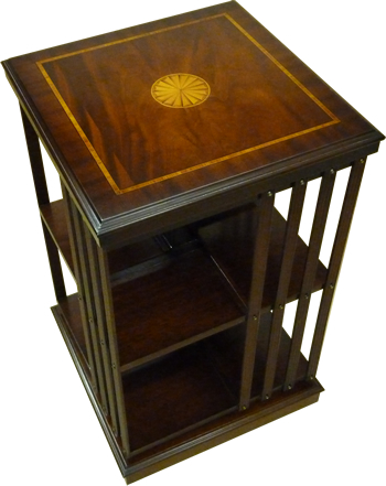 Yew And Mahogany Reproduction Revolving Bookcase Available In Yew, Mahogany  Or Walnut   A1 Furniture