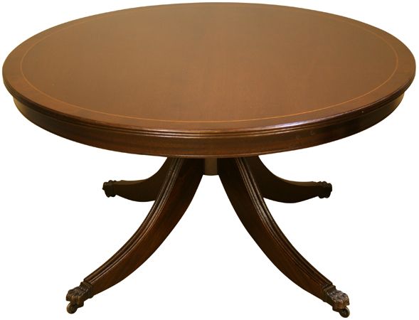 Round Reproduction Coffee Tables Mahogany Yew A1 Furniture