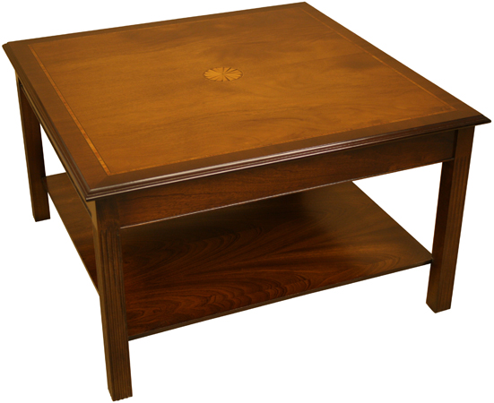 Square Coffee Table with Marquetry